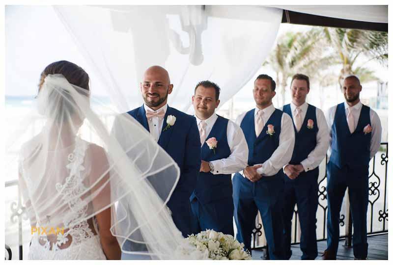 groomsmen Hyatt Zilara wedding in Cancun