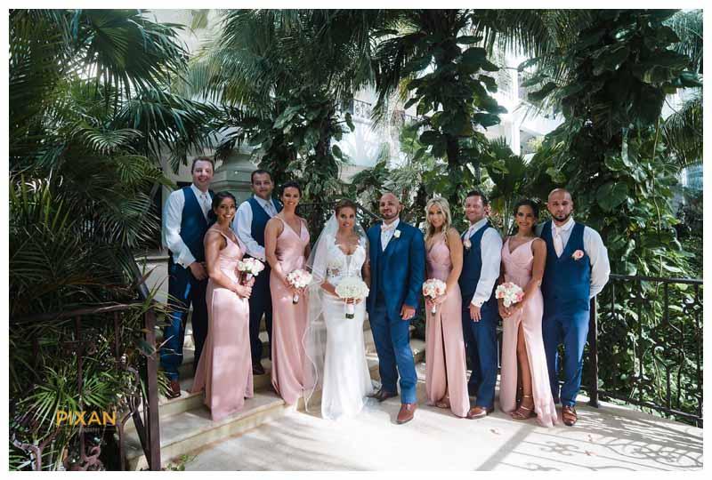 bridal party photos Hyatt Zilara wedding