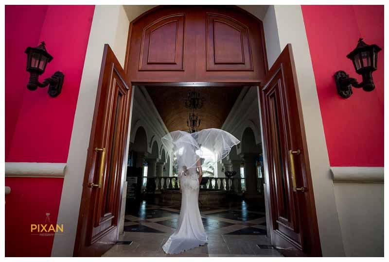 bride portraits Hyatt Zilara wedding Mexico