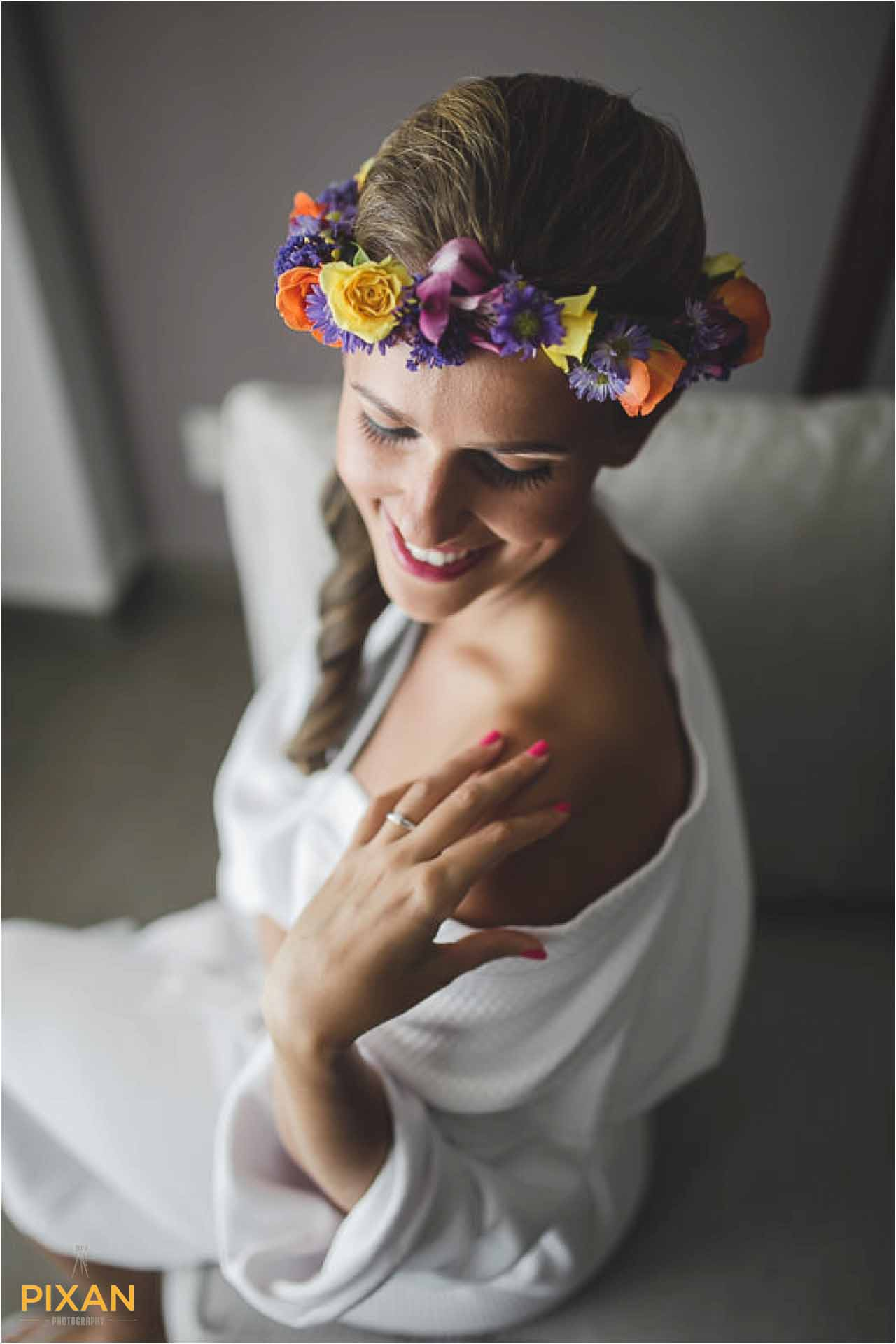 Bohemian bridal style Hyatt Zilara Cancun wedding