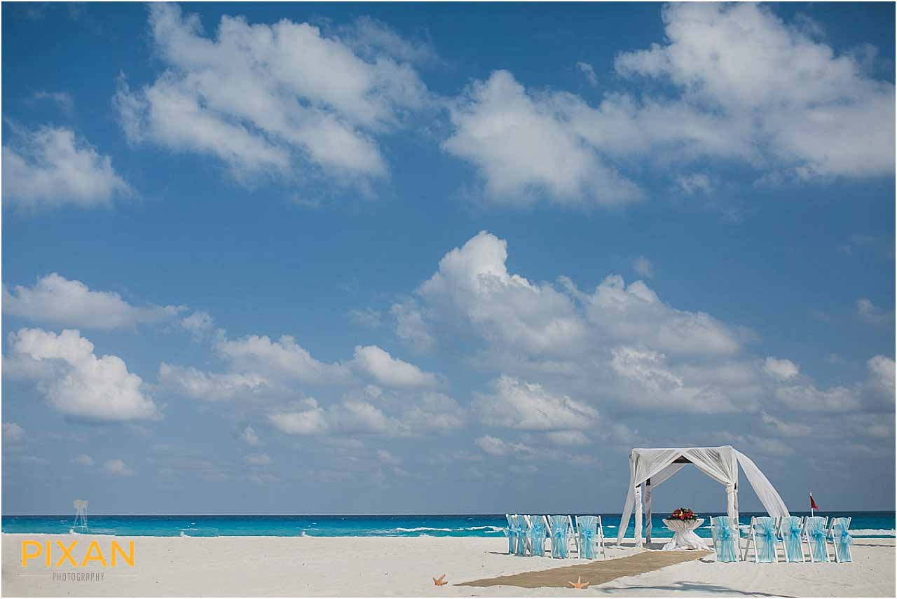 Hyatt Zilara Cancun beach wedding