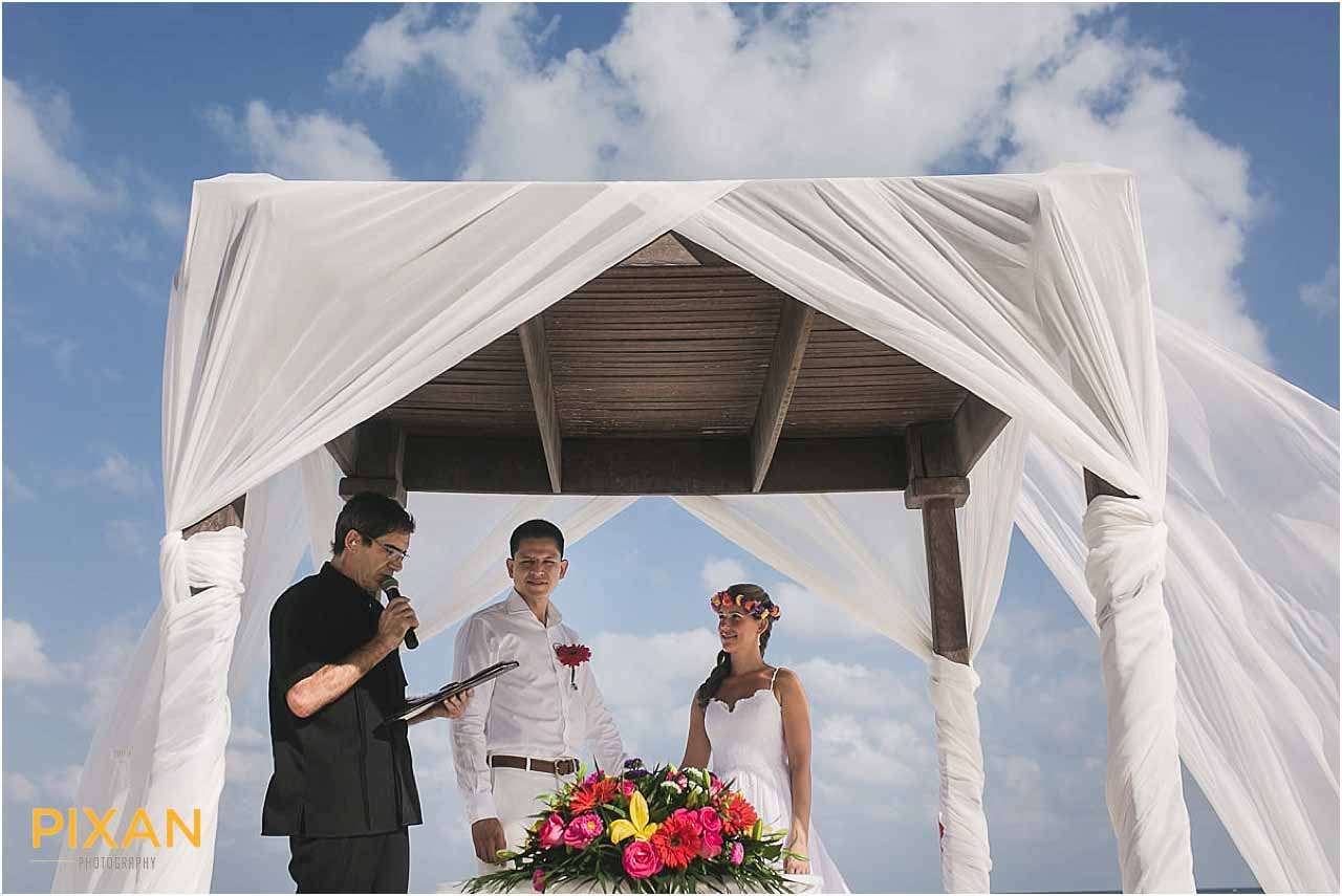 Getting married on the beach at Hyatt Zilara Cancun