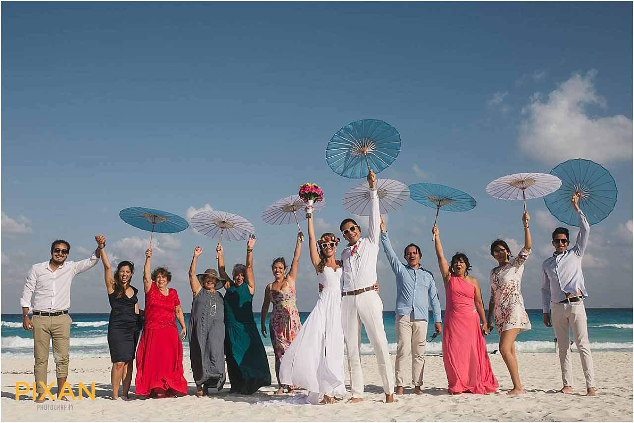 Wedding party photos Hyatt Zilara Cancun