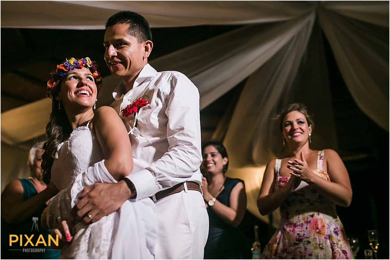 First dance salsa Hyatt Zilara Cancun wedding