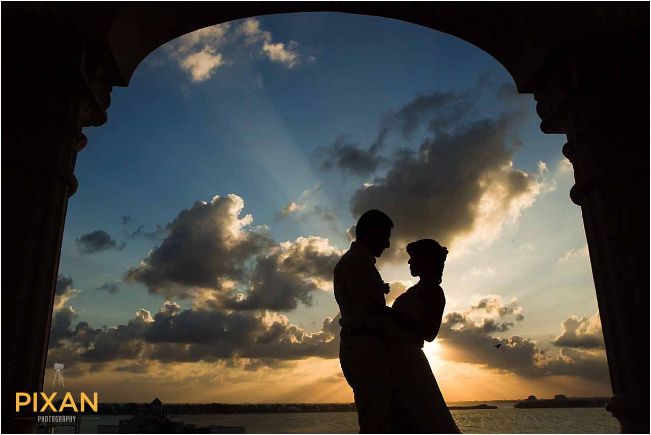 Sunset photography Hyatt Zilara Cancun wedding