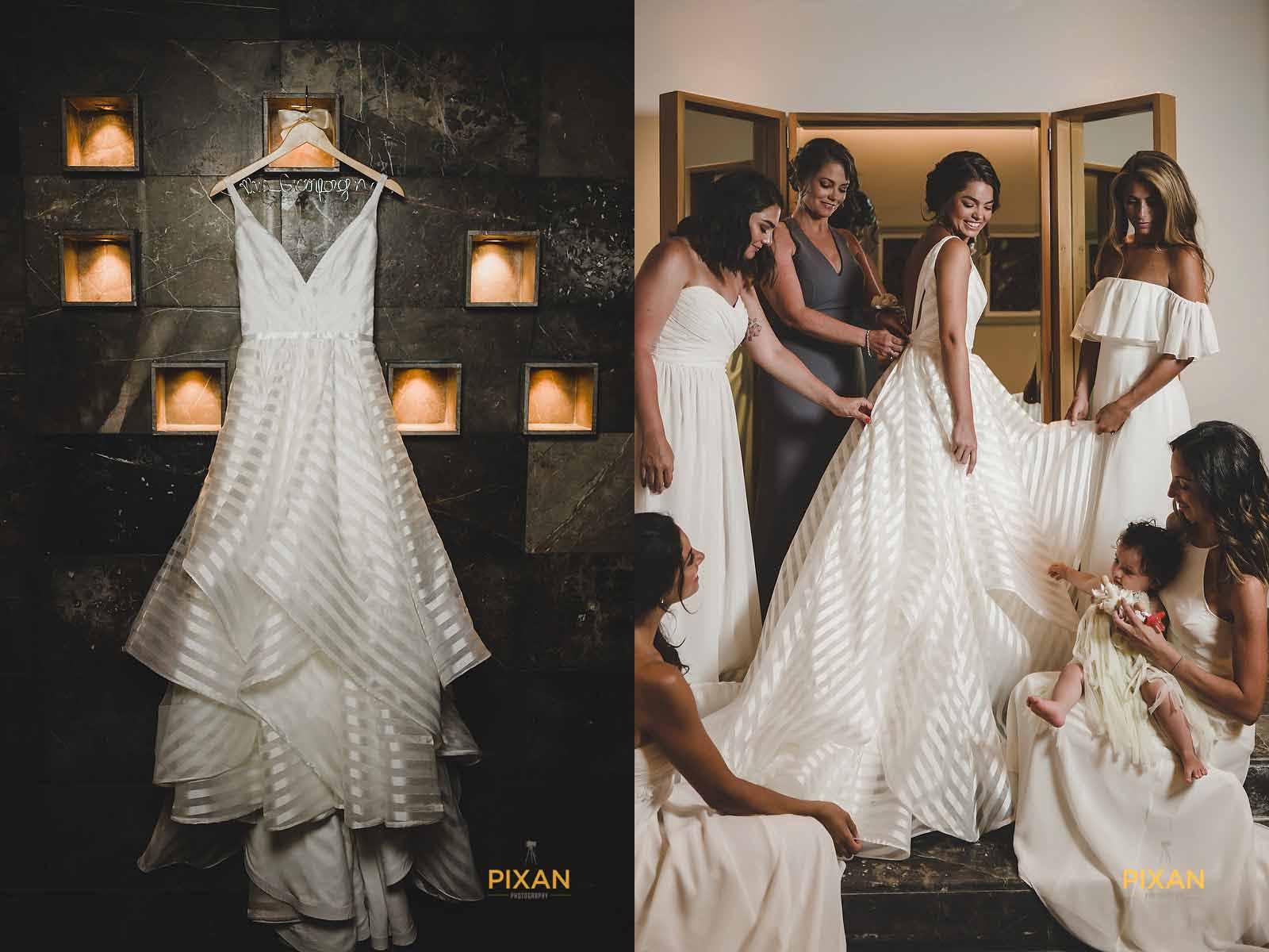 dreams playa mujeres wedding bridal suite getting ready