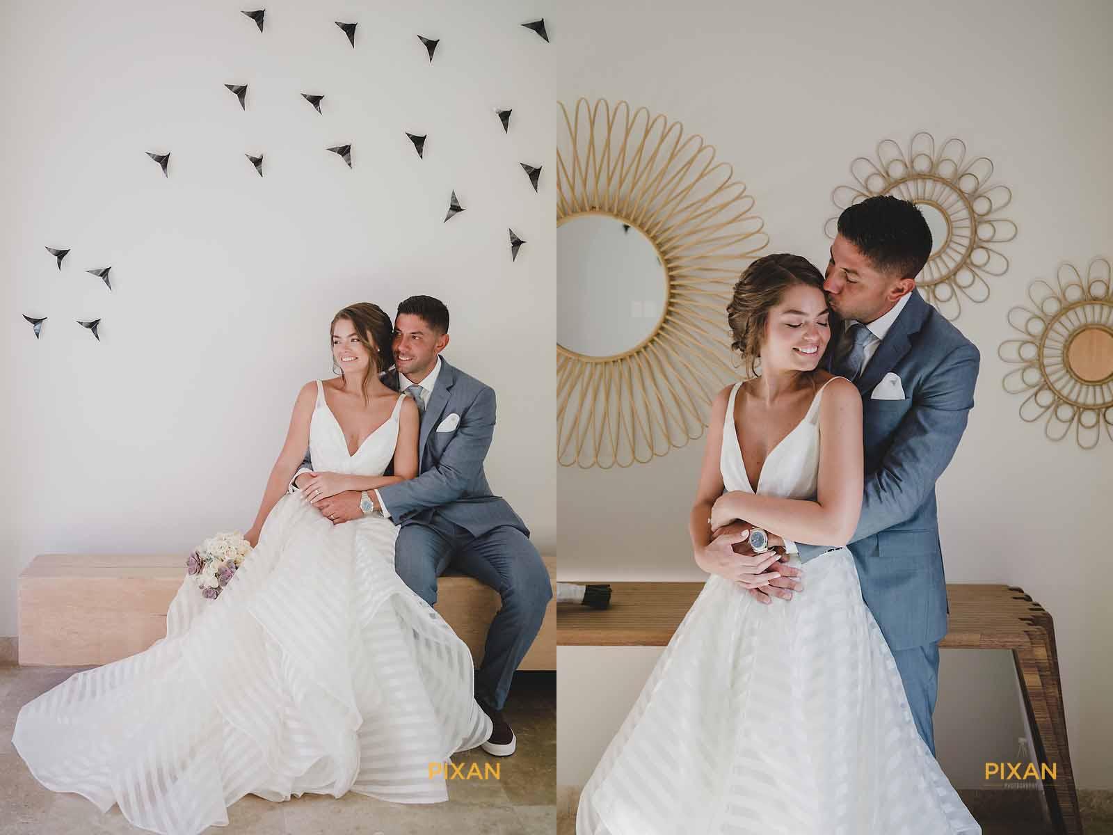 dreams playa mujeres wedding bridal shoot executive suite