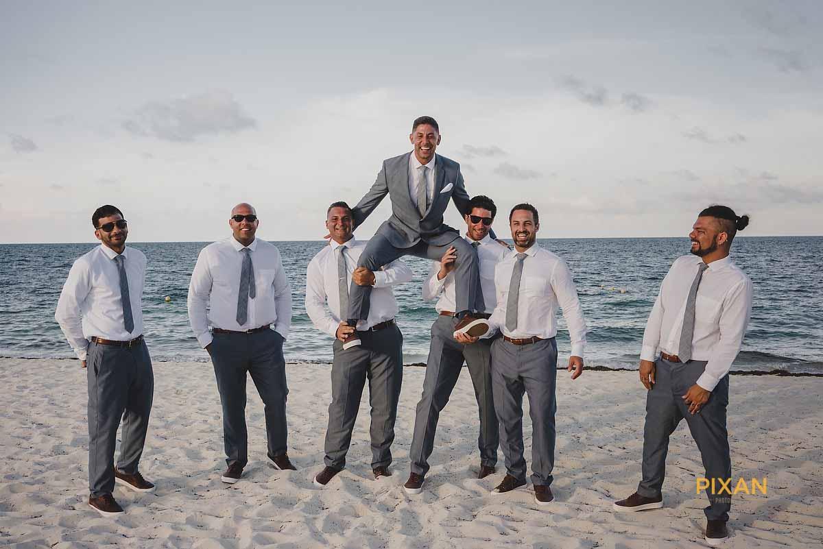 dreams playa mujeres wedding groomsmen