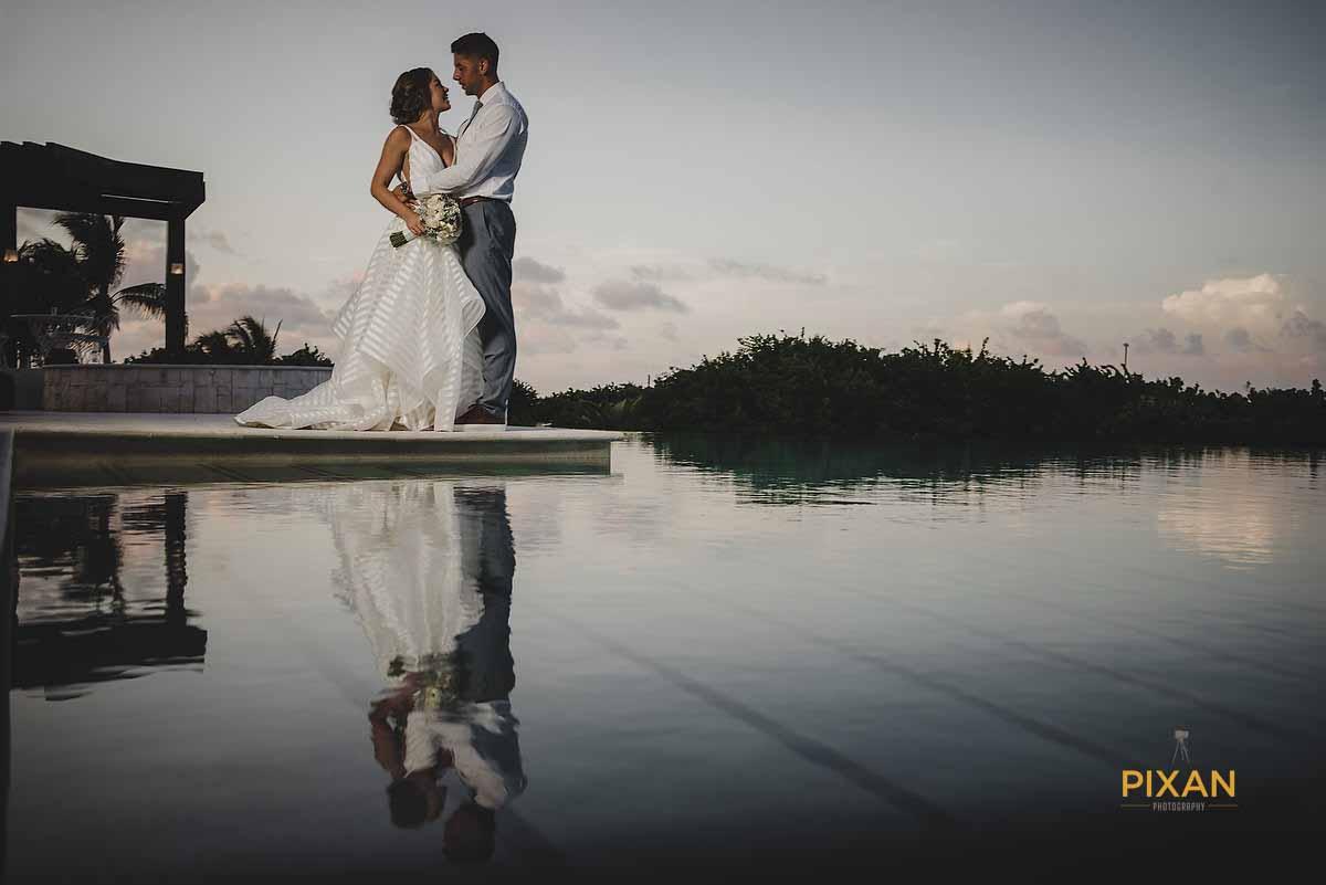 dreams playa mujeres wedding reflection