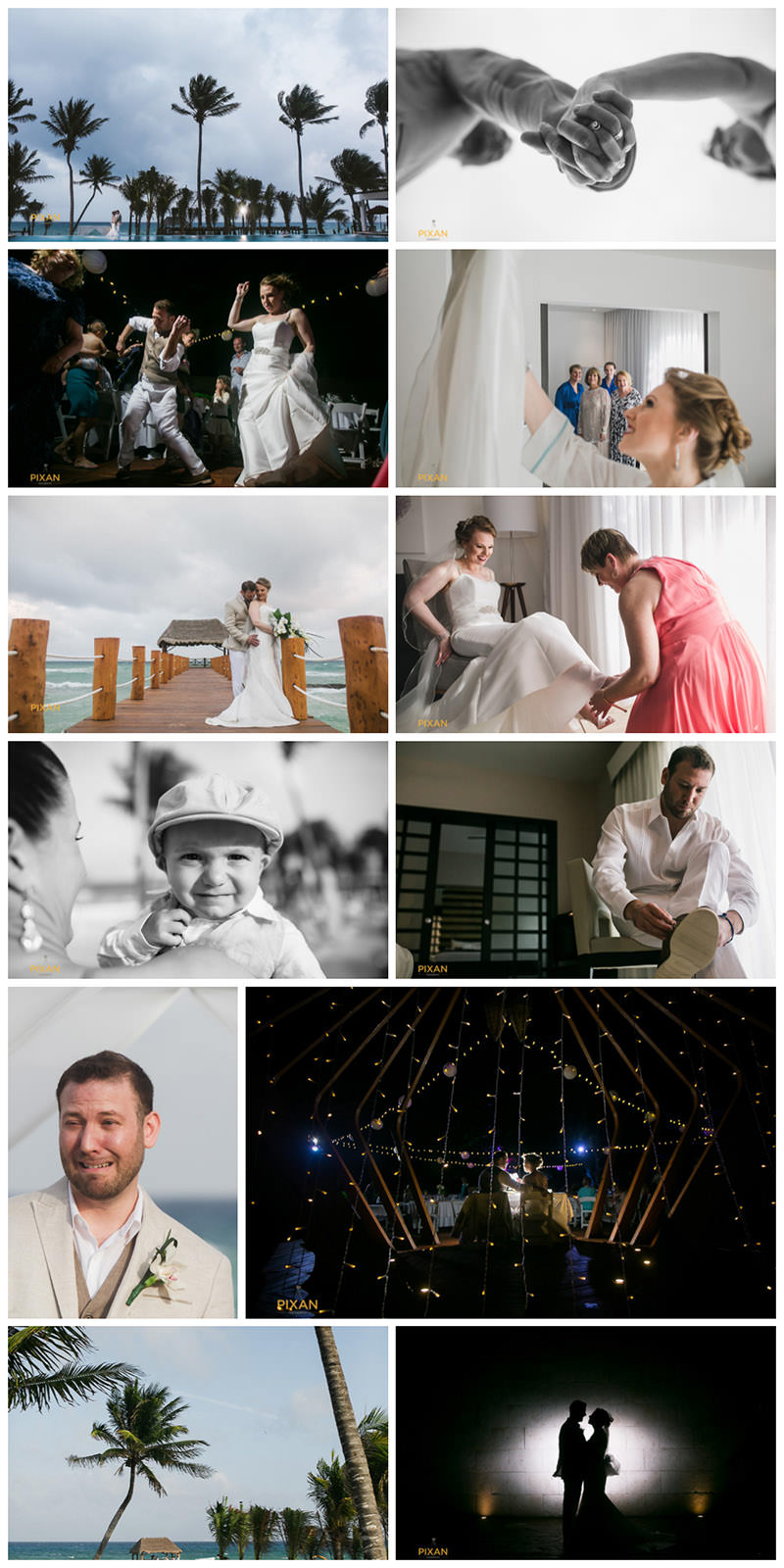 azul-fives-wedding-collage