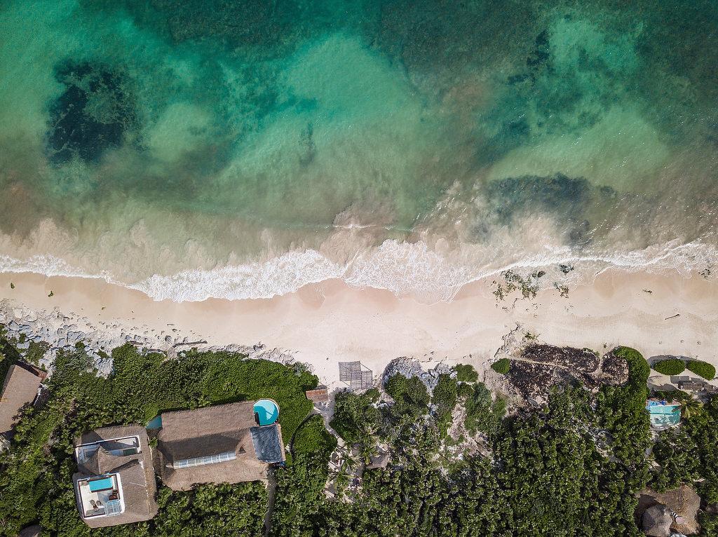Birds eye view of Papaya Playa Project Tulum Beach Wedding Venue