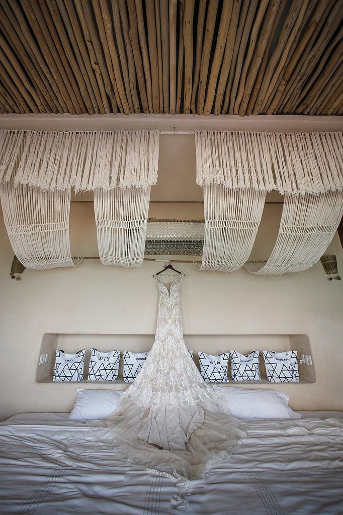 wedding dress papaya playa tulum