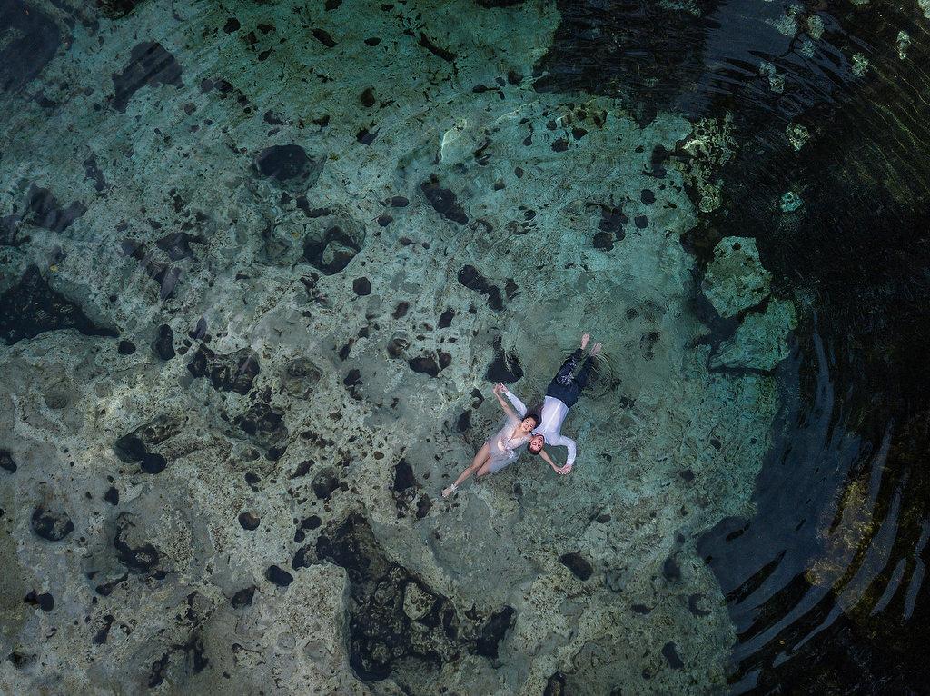 Cenote Drone Trash The Dress Tulum