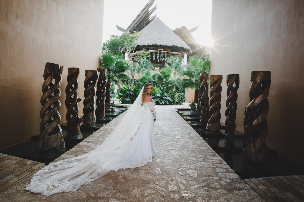 Bride's portrait Hotel xcaret