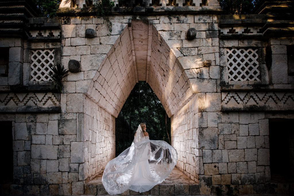 Xcaret-Wedding-Mayan-arch-entry