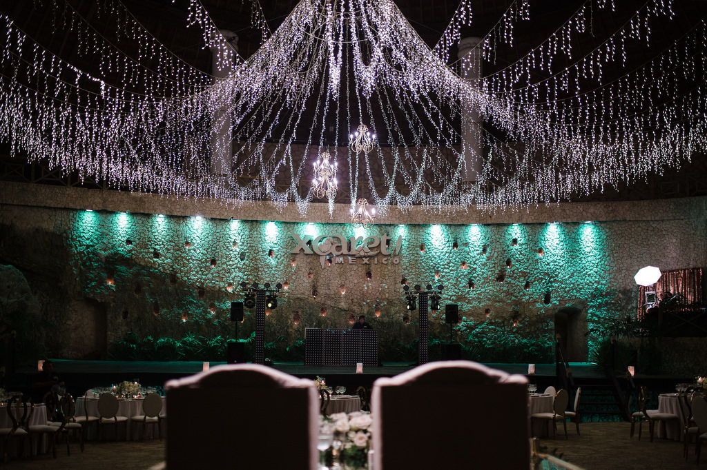 La Isla Xcaret Reception decor chandelier