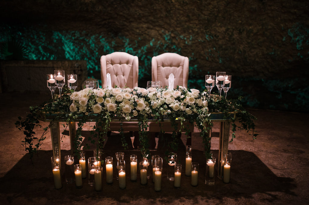 La Isla Xcaret Reception decor bride and grooms table