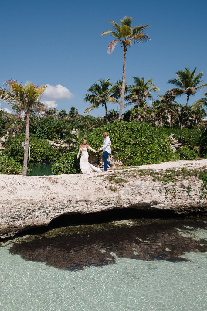 Hotel Xcaret Trash The Dress beach walk