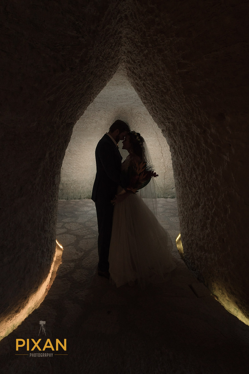Hotel-Xcaret-Mexico-Wedding-cave-textures-romantic