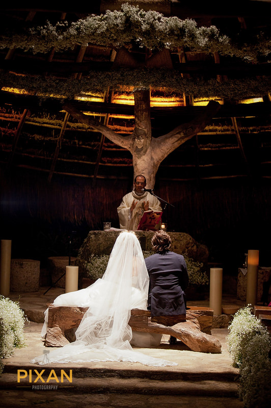 Chapel-St-Francis-of-Assisi-Xcaret-Park-wedding