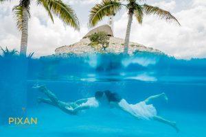 Hotel-Xcaret-Mexico-Wedding-trash-the-dress