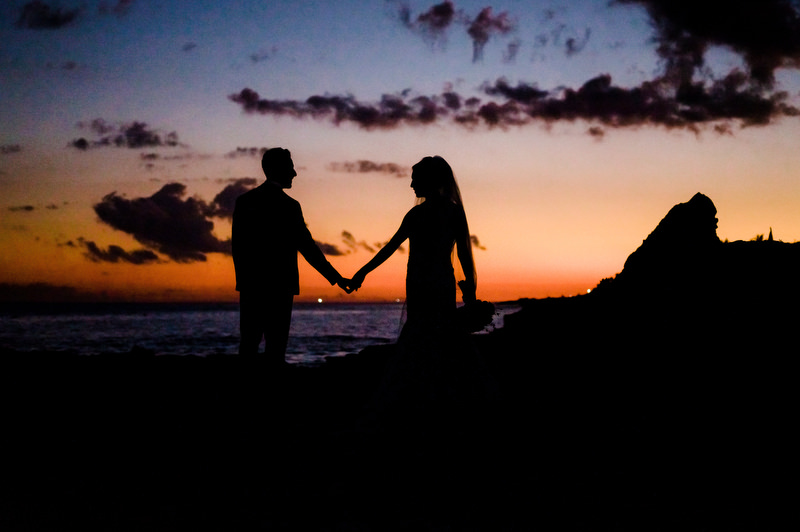 Hotel Xcaret Mexico Indian Mixed Destination Wedding sunset beach romance