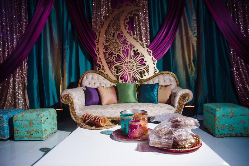 Hotel Xcaret Mexico Indian Mixed Destination Wedding ballroom decor