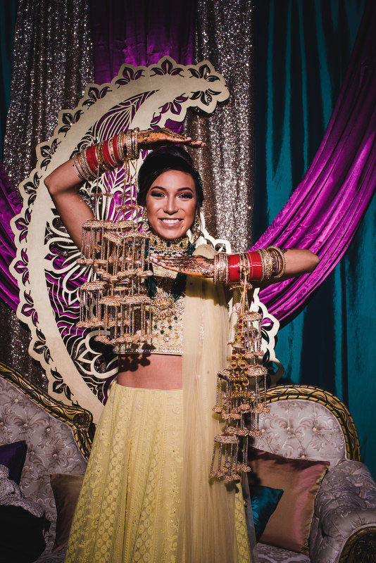 Hotel Xcaret Mexico Indian Mixed Destination Wedding bride