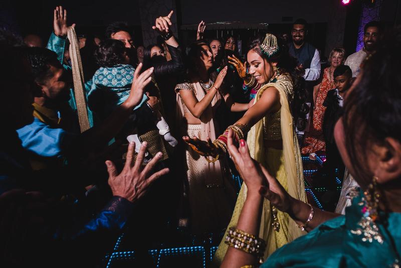Hotel Xcaret Mexico Indian Mixed Destination Wedding Dance bride
