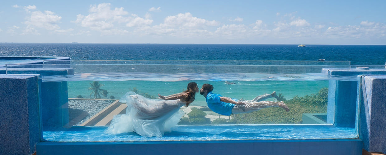 Xcaret Hotel Mexico Fuego Pool Trash The Dress
