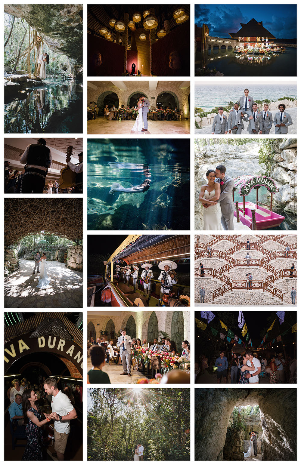 Hotel-Xcaret-Mexico-Wedding-collage