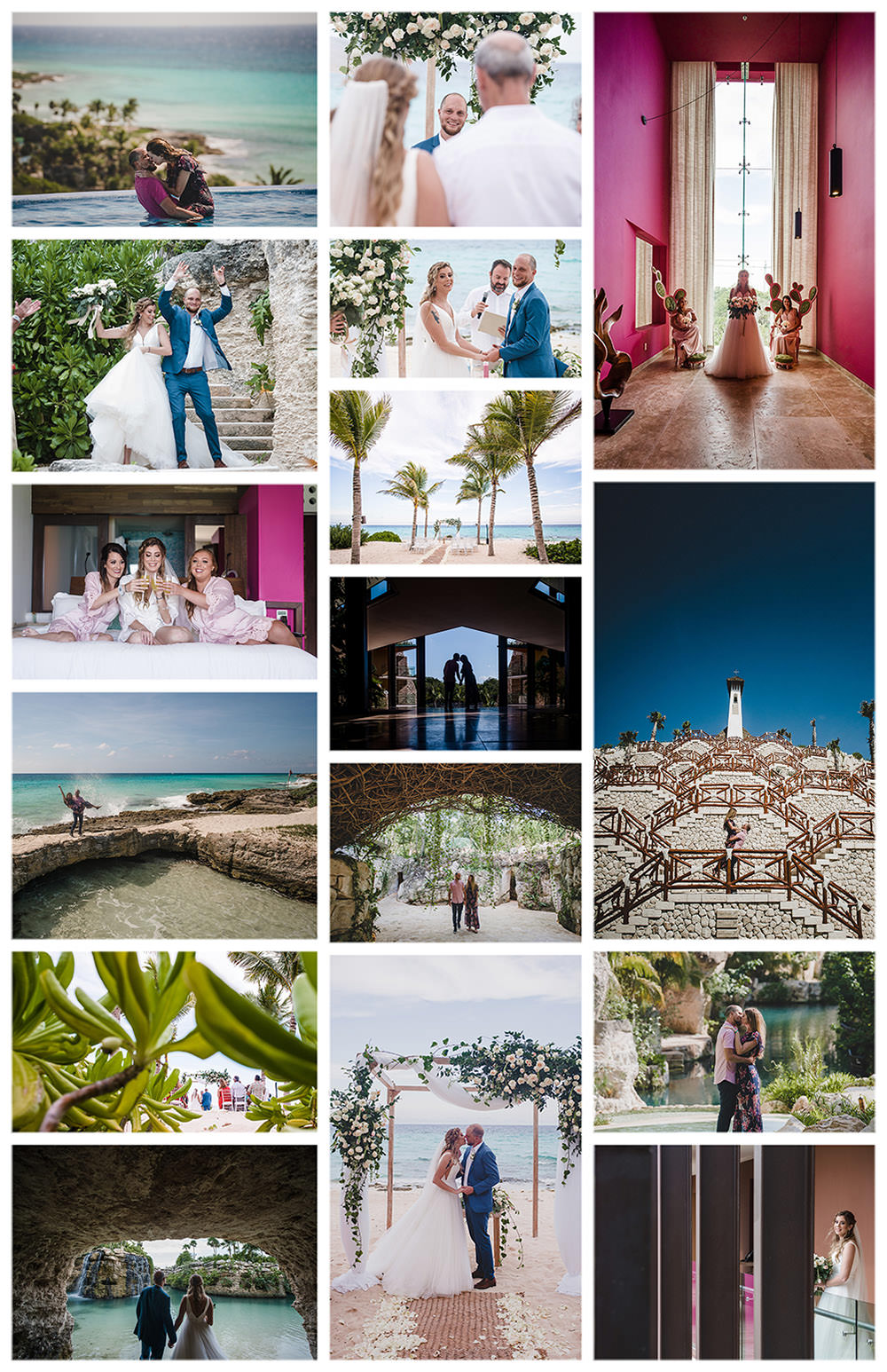 Hotel-Xcaret-Beach-Wedding-Collage