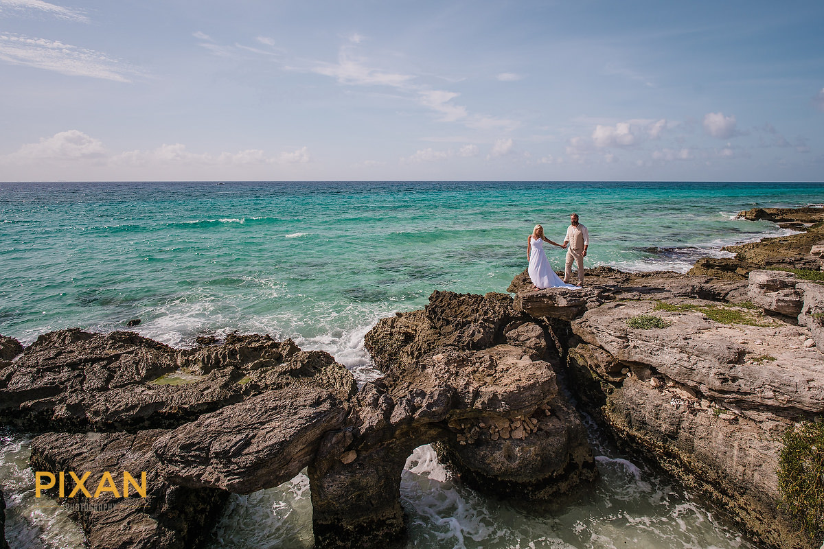 Coastal bridal walk, rocky coastline