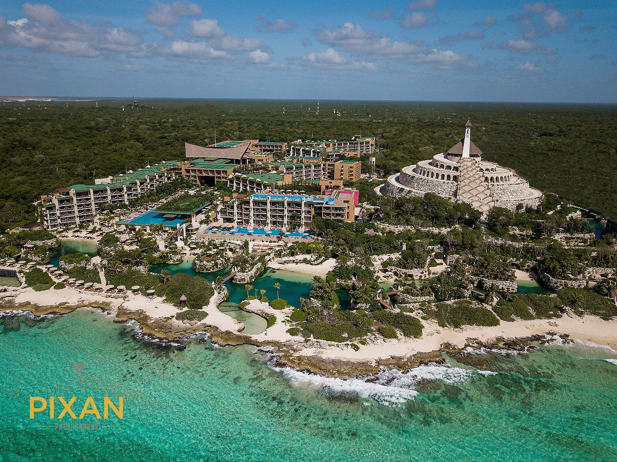 Hotel Xcaret Mexico Destination Aerial photograph