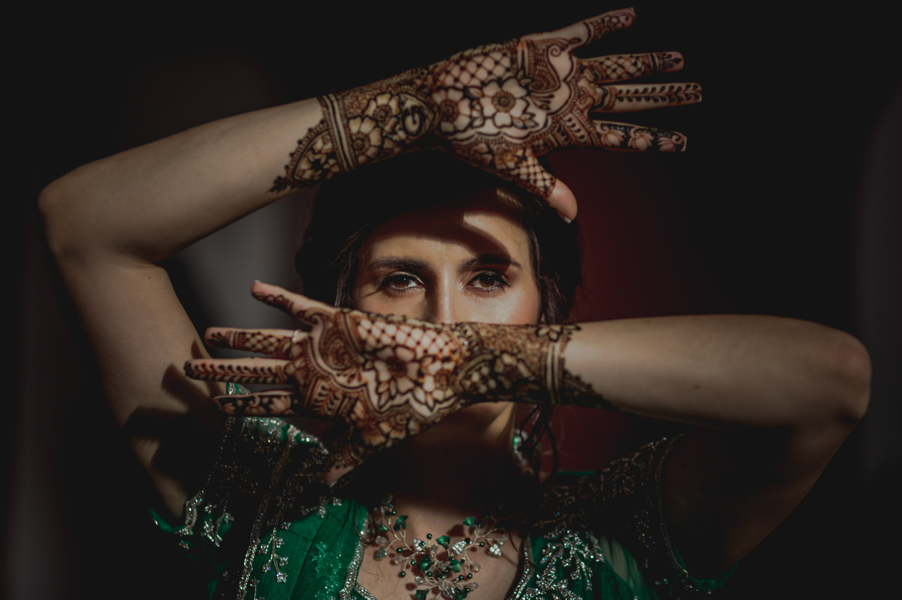 Indian Wedding Bride Henna Hands