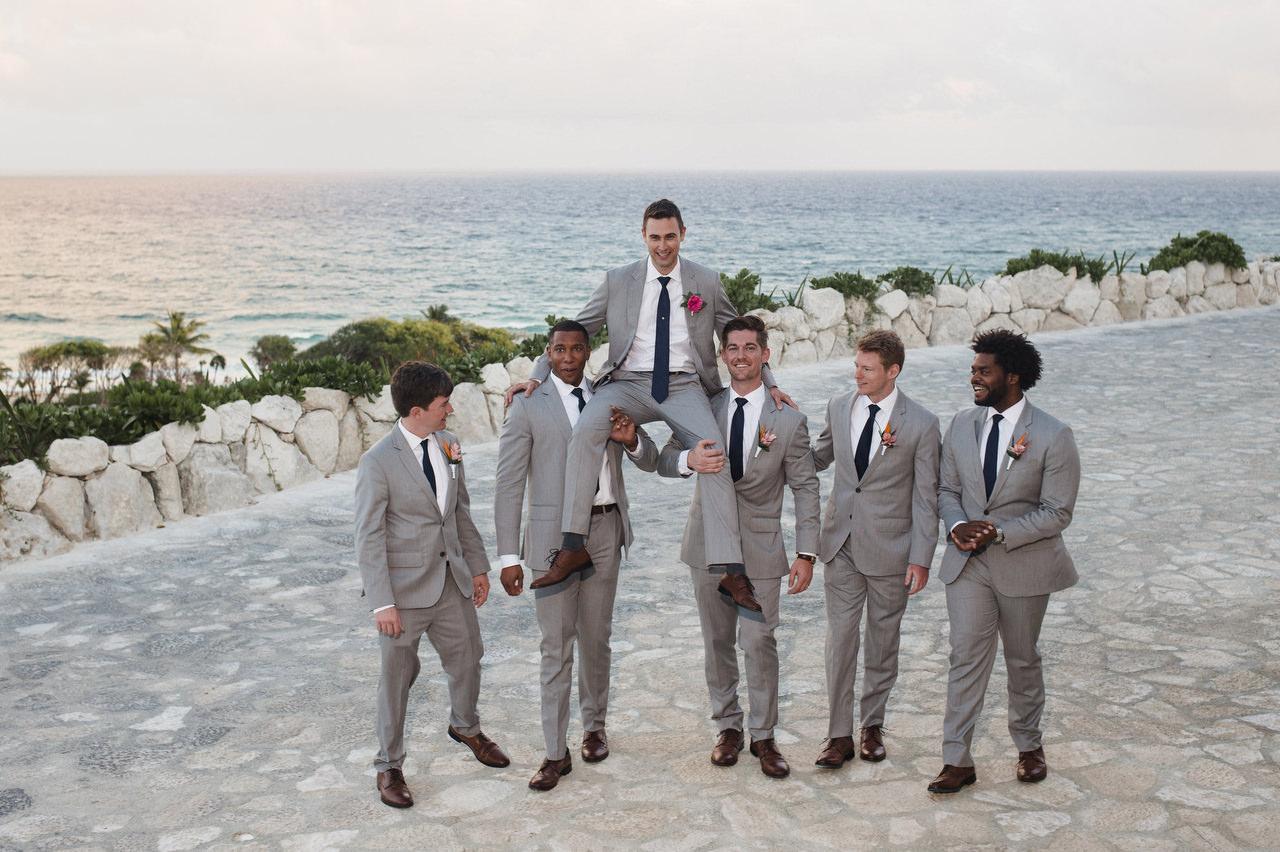 groomsmen fun hotel xcaret mexico