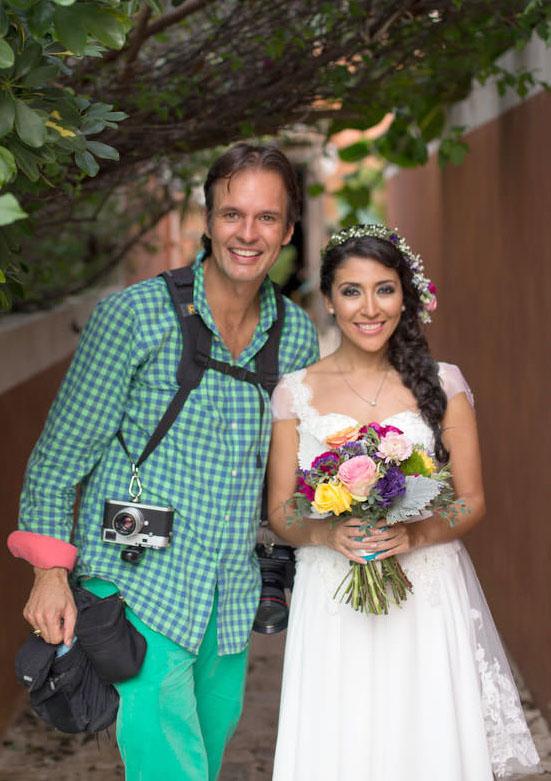 Vincent van den Berg with Bride Viri