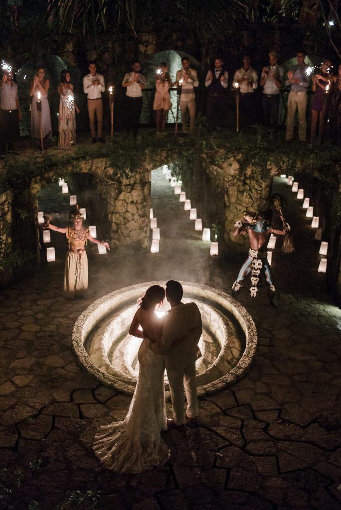 Xcaret Wedding Caracol de la Isla Mayan Ceremony